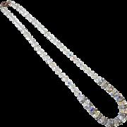 Aurora Borealis Faceted Crystal Beads w Rhinestone Rondels