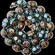 Art Deco Chinese Large Cloisonne Enamel Bead Necklace