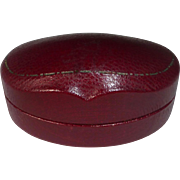 Antique Leatherette Silk Satin & Velvet Ring Presentation Box