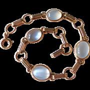 14k Moonstone Cabochon Bracelet
