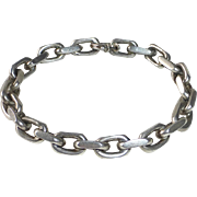 Chunky 800 Silver Open Link Industrial Style Chain Bracelet