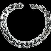 800 Silver Flat Link Heavy Chain Bracelet