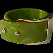 Wide EOD Bakelite Buckle Bracelet