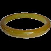 Bakelite Bracelet EOD Faceted Olive Green