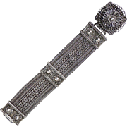 Ethnic 830 Silver Massive Handmade Multiple Chain Bracelet