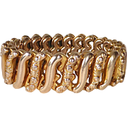 Gold Filled Embossed Expansion Stretch Bracelet