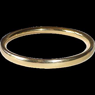 Gold Filled Hinged Bangle Bracelet