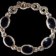 Gold Filled & Onyx Cabochon Bracelet
