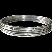Set of 6 Sterling Silver Bangle Bracelets