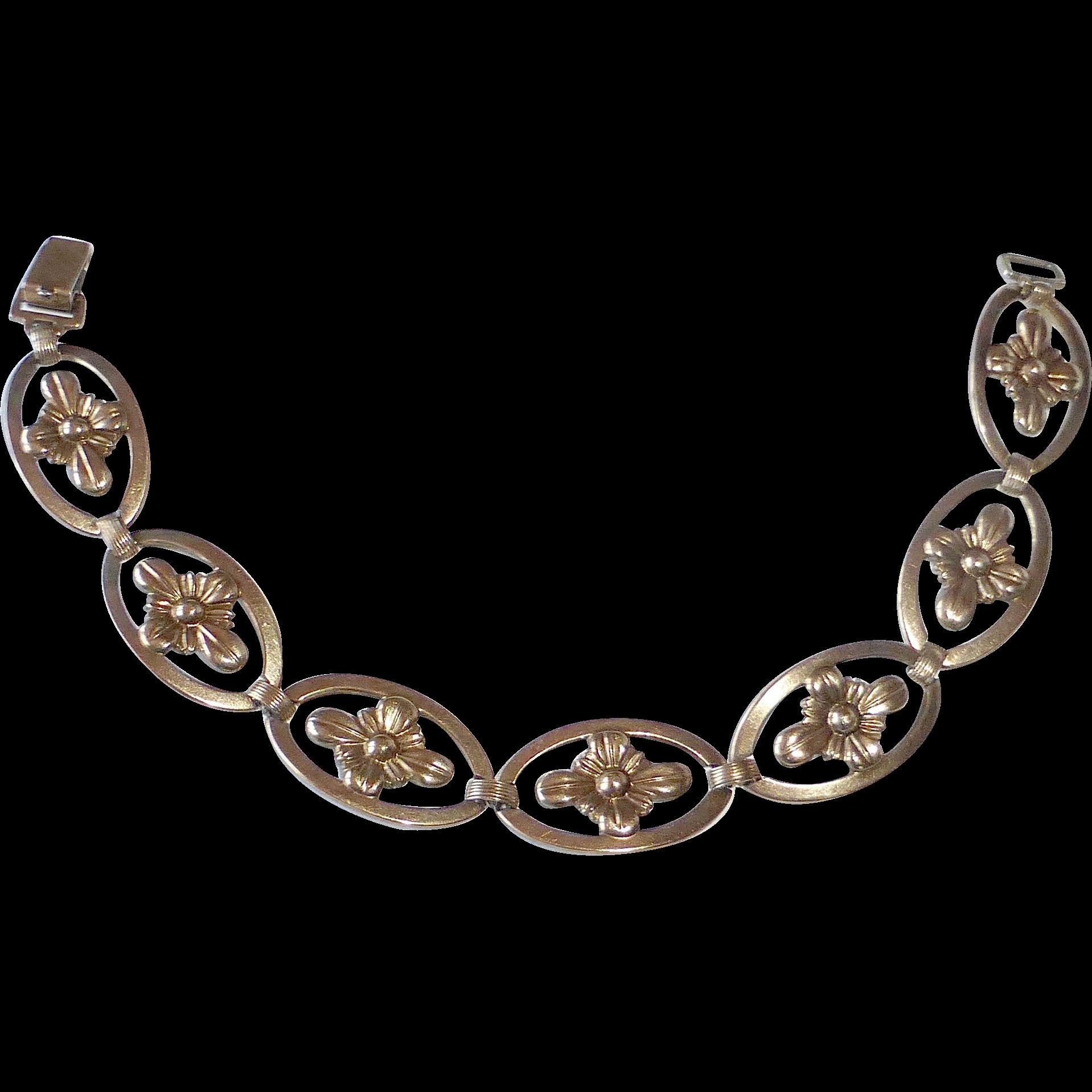 Symmetalic Sterling & 14k Link Bracelet