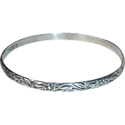 Danecraft Felch Sterling Floral Vine Bangle Bracelet