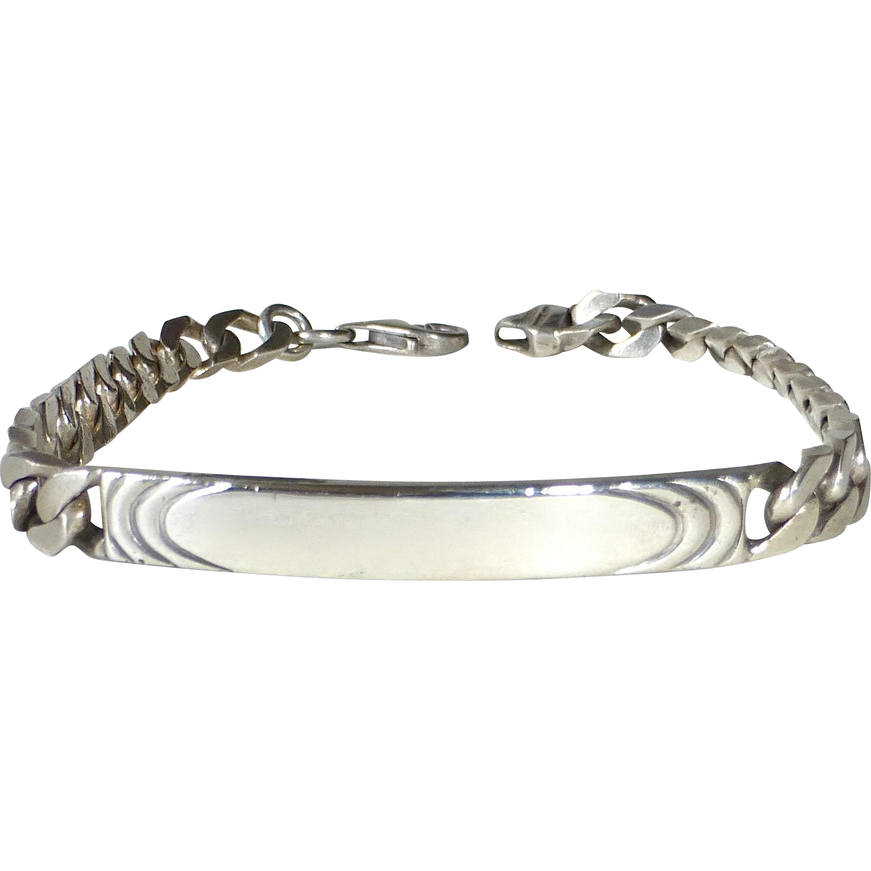 Sterling Unengraved ID Bracelet