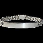 "Tiffany & Co. Sterling Elsa Peretti 8"" Classic ID Bracelet"