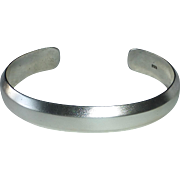 Sterling Silver Gently Sculpted Solid Cuff Bracelet
