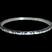 Danecraft Felch Sterling Silver Raised Ovals & Dots Pattern Bangle Bracelet