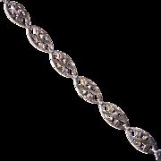 Sterling Art Deco Symmetalic Bracelet Gold Filled Top