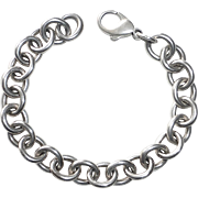 Sterling Silver Round Link Chain Bracelet