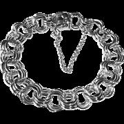 Sterling Triple Link Chain Starter Charm Bracelet