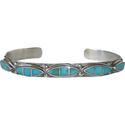 Southwest Sterling & Turquoise Cuff Bracelet