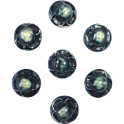 Celluloid Bubble Buttons Set of 7