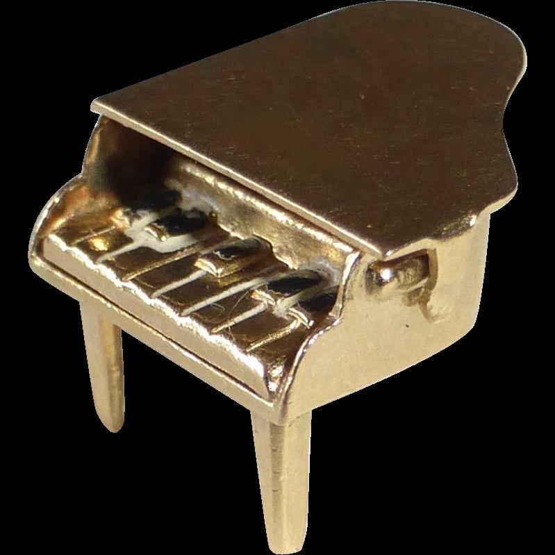14k Baby Grand Piano Kinetic Charm