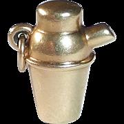 14k Cocktail Shaker Charm or Pendant