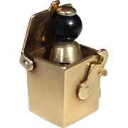 14k Jack in the Box Kinetic Charm
