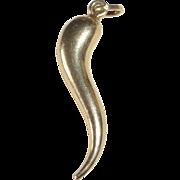 18k Italian Horn 'Cornicello' Charm/Pendant