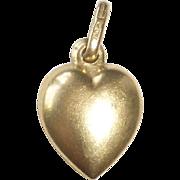 18k Puffy Heart Charm