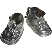Sterling Silver Baby Shoes Charm dated