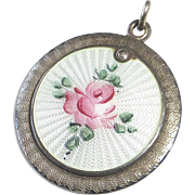 Sterling & Rose Enamel Sliding Cover Religious Medal