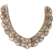 Beaded Satin Collar w Faux Pearls Japan c1950s