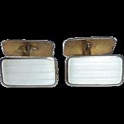 Aksel Holmsen Norne Double Sided Sterling Silver & Enamel Cufflinks
