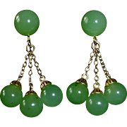 14k Jade Drop Earrings