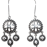 Sterling Silver Small Chandelier Earrings
