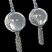 Sterling & Rock Crystal Pools of Light Earrings
