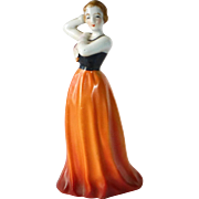 Art Deco Japan Porcelain Woman Figurine c1930s
