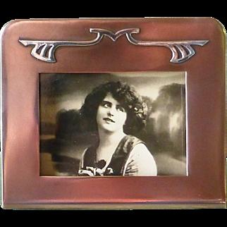 Arts & Crafts signed 'Silver Crest' Bronze & Sterling Picture Frame