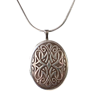 Sterling Silver Locket Art Nouveau Design