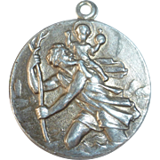 Sterling Silver French St. Christopher Medal