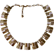 Coro Gold Tone Collar Necklace Mint