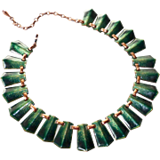 Renoir Matisse Copper & Enamel Collar Necklace