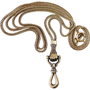 14k Victorian Figa Hand/Fist Decorative Watch Chain
