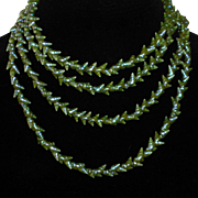 Antique Tasmanian Aboriginal Iridescent Marineer Shell Necklace