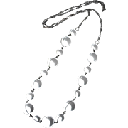 Sterling & Quartz Crystal Orbs Pools of Light Necklace