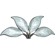 Sterling Enamel David Andersen Four Leaf Pin