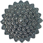 Sterling Cannetille Filigree Ethnic Pin
