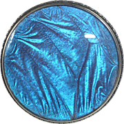 Art Deco English Sterling Iridescent Butterfly Wing Pin