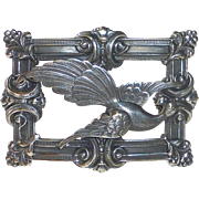 Antique Victorian Exotic Bird Sash Ornament Pin