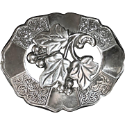 Victorian Revival Sterling Leaf & Berry Pin